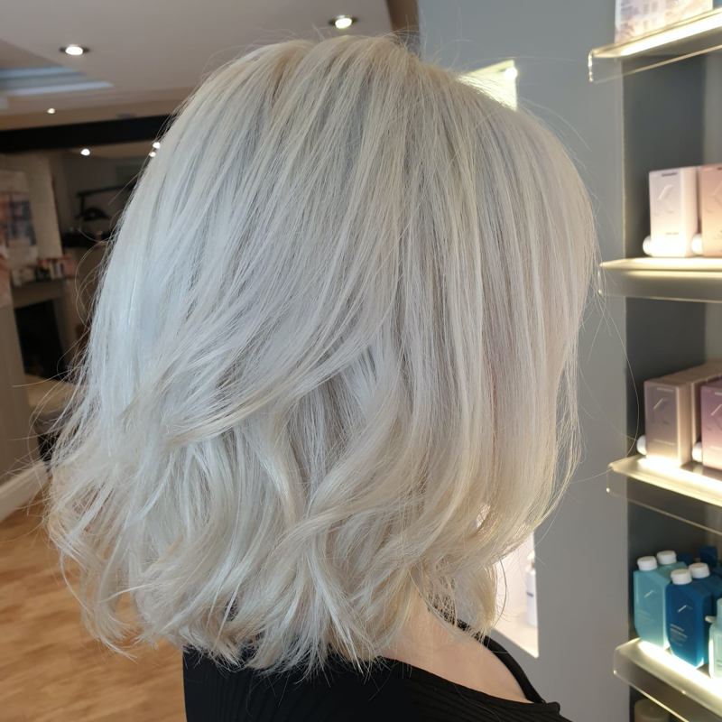 Gorgeous clean silver blonde